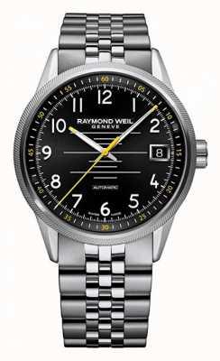 Raymond Weil Mens Freelancer Automatic Stainless Steel Bracelet 2754-ST-05200