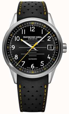 Raymond Weil Mens Freelancer Automatic Black rubber Strap Black Dial 2754-SR-05200