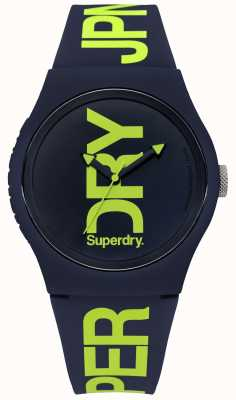 Superdry Navy Silicone With Green Text Print SYG189UN