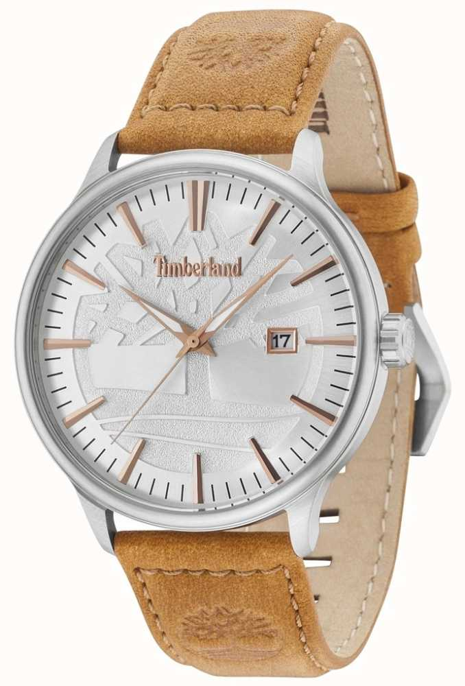Timberland Edgemont Silver Dial Tan Leather Strap 15260JS 04 - First ... 5d869f19700