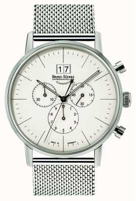 Bruno Sohnle Stuttgart Chronograph 42mm Quartz Stainless Steel White Dial 17-13177-240