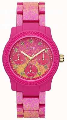 Guess Womens Funfetti Pink Watch W0944L3