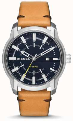 Diesel Mens Armbar Light Tan Leather Strap DZ1847
