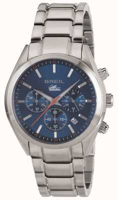 Breil Manta City Stainless Steel Chronograph Blue Dial Bracelet TW1605