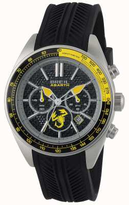 Breil Abarth Stainless Steel IP Black Chronograph Black & Red Dial TW1691