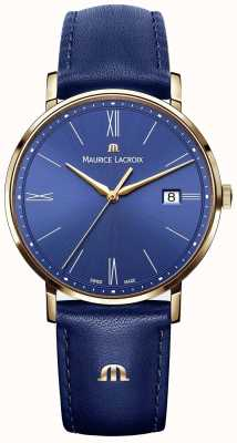 Maurice Lacroix Eliros Blue Leather And Gold Case Watch EL1087-PVP01-410-1