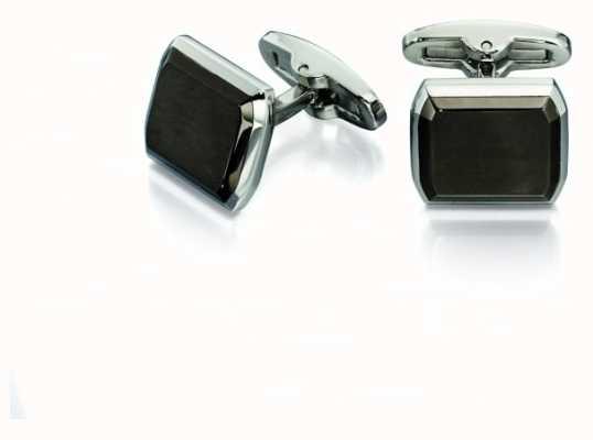 Fred Bennett Men's Gunmetal Polished Stainless Steel Cuff Links V518