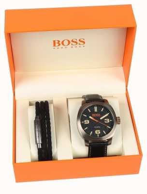 Hugo Boss Orange Mens Capetown Watch And Bracelet Gift Set 1570052