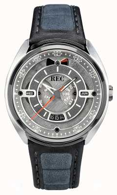 REC Porsche Automatic Grey Alcantara Leather Strap Grey Dial p-901-01