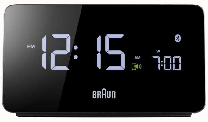 Braun Digital Bluetooth Alarm Clock BNC020BK