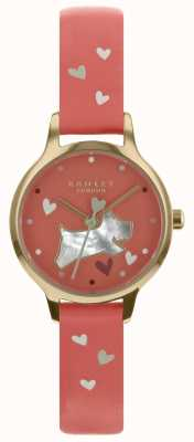 Radley Ladies 26mm Case Coral Dial Coral Pattern Leather Strap RY2632