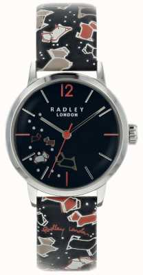 Radley Ladies Silver 31mm Case Ink Dial Ink Pattern Leather Strap RY2623