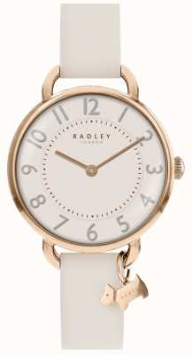 Radley Ladies 32mm Case RG Dial With Dog Charm Chalk Leather Strap RY2650