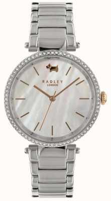 Radley Ladies Silver 34mm Case Sunset White Bez Dial RY4337
