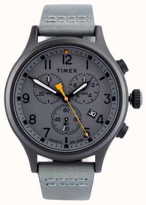 Timex Allied Chrono Gray Leather Strap/Grey Dial TW2R47400