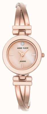 Anne Klein Womens Liliana Nude Silver Case Leather Strap AK/N2685PMLP
