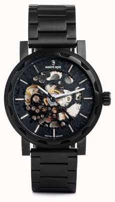 Weird Ape Kolt Automatic Black Leather Strap Black IP Case WA02-005500