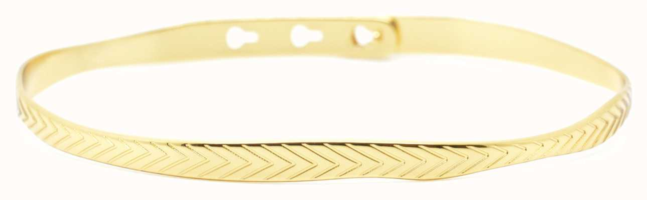 Mya Bay Gold PVD Leaf Texture Bangle JC-55.G