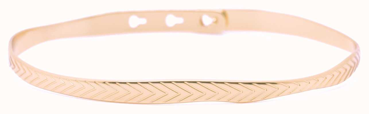 Mya Bay Rose Gold PVD Plated Leaf Texture Bangle JC-55.P