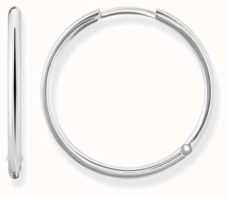 Thomas Sabo Womens Glam And Soul Large Hinged Hoops Silver CR610-001-12