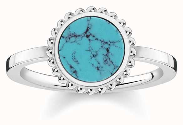 Thomas Sabo Womens Glam And Soul Turquoise Stone Ring TR2186-404-17-52