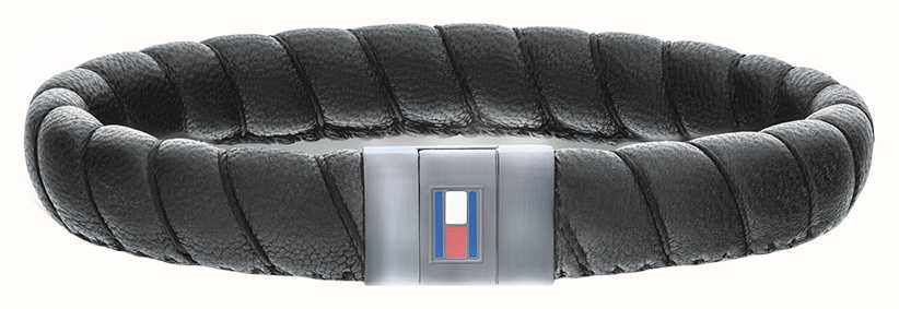 Tommy Hilfiger Brown Leather Casual Core twist bracelet 2701057