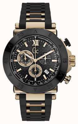 Gc Mens GC-1 Sport Chronograph Black Silicone Strap X90021G2S