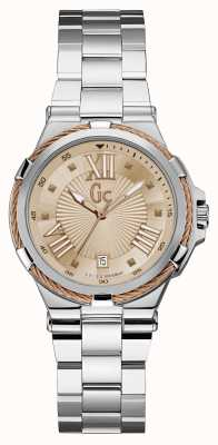 Gc Womens Structura Cable Sport Stainless Steel Y34007L3