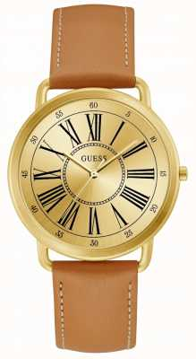 Guess Kennedy Womens Trend Analogue Gold Round W1068L4