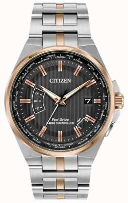 Citizen Men's World Perpetual A-T Stainless Steel & Rose Gold IP CB0166-54H