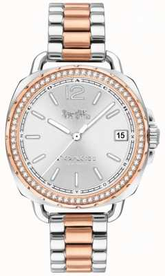Coach Womens Tatum Two Tone Rose Gold And Silver Stainless Steel 14502950