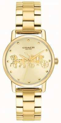Coach Womens Grand Gold Case & Bracelet Watch 14502976