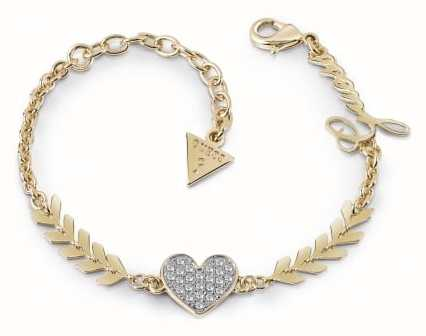 Guess Ladies Gold Plated Multi Cupid Bracelet UBB85086-L