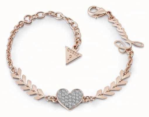 Guess Ladies Rose Gold Plated Multi Cupid Bracelet UBB85087-L