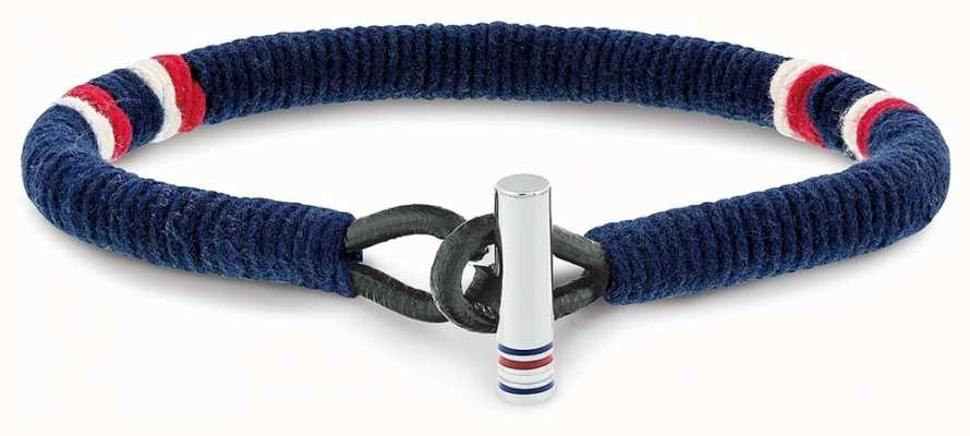 Tommy Hilfiger Blue Wrapped Leather Bracelet 2701070