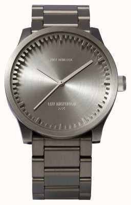 Leff Amsterdam Tube Watch S38 Steel Case Steel Bracelet LT71101