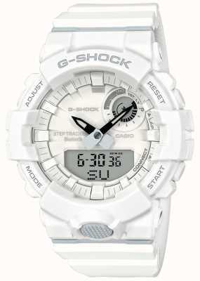 Casio G-Shock Bluetooth Fitness Step Tracker White Strap GBA-800-7AER