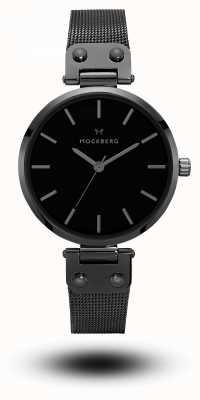 Mockberg Lio Black PVD Plated Mesh Bracelet Black Dial MO305