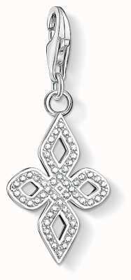 Thomas Sabo Black Love Knot Small Sterling Silver Charm 1563-051-14