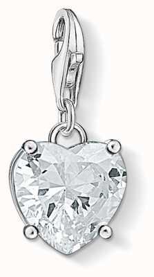 Thomas Sabo Heart With White Stone Charm 1567-051-14