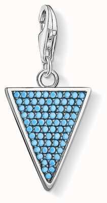 Thomas Sabo Triangle Turquoise Charm Pendant Triangle 1579-667-17