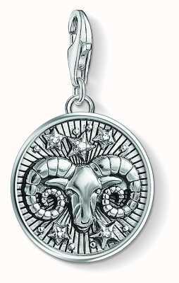 Thomas Sabo Zodiac Sign Aries Sterling Silver Blackened Zirconia 1640-643-21