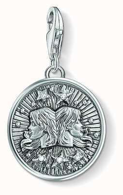 Thomas Sabo Zodiac Sign Gemini Sterling Silver Blackened Zirconia 1642-643-21