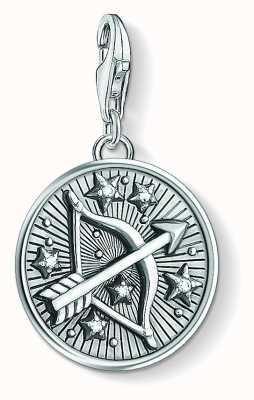 Thomas Sabo Zodiac Sign Sagittarius Sterling Silver Blackened Zirconia 1648-643-21