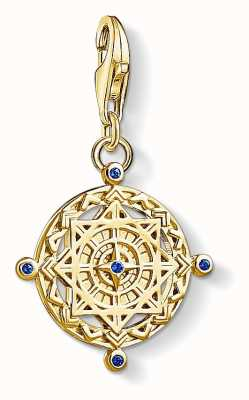 Thomas Sabo Blue Vintage Spinel Compass Sterling Silver Gold Plated 1662-922-39
