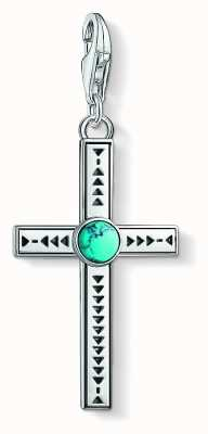 Thomas Sabo Ethnic Cross Turquoise Sterling Silver 1677-878-17
