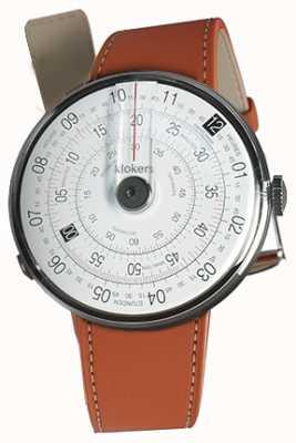 Klokers KLOK 01 Black Watch Head Orange Alcantara Single Strap KLOK-01-D2+KLINK-01-MC5