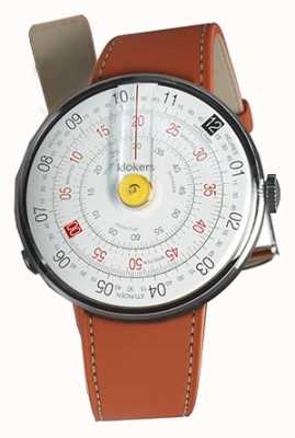 Klokers KLOK 01 Yellow Watch Head Orange Alcantara Single Strap KLOK-01-D1+KLINK-01-MC5