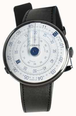 Klokers KLOK 01 Blue Watch Head Black Satin Single Strap KLOK-01-D4.1+KLINK-01-MC1
