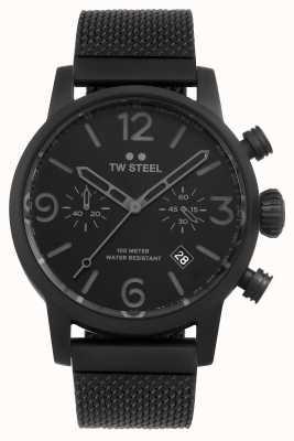 TW Steel Maverick Caliber Chronograph Black mesh bracelet black Dial MB33